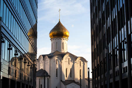 Temple of St. Nicholas at Tverskaya Zastava in Moscow photo