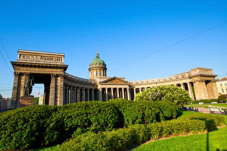 st petersburg: Kazan Cathedral, St. Petersburg, Russia Stock Photo