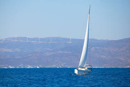 Sailing regatta of the sea. Luxury yahts. photo