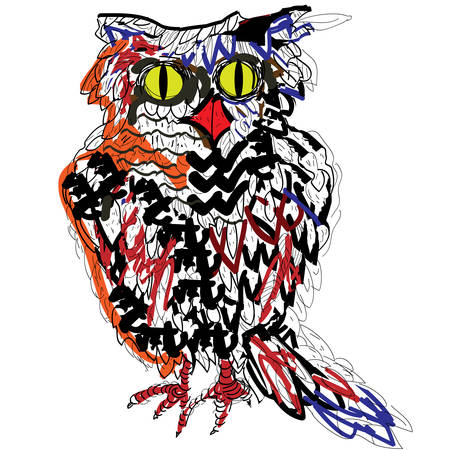 Owl. Vector drawing.