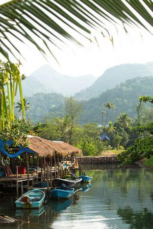 return trip: Fishing village in Thailand.