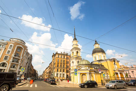 ST.PETERSBURG, RUSSIA - JUN 26: One of the streets in historical center, Jun 26, 2013, SPb, Russia. Petersburg ranked 10th place among the most visited and popular tourist cities in Europe (20th in the world)