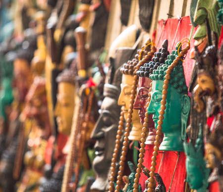 singing bowls: Handicrafts in Kathmandu (Buddha heads)