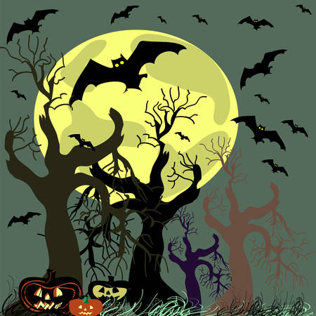 Vector Halloween background. Vector