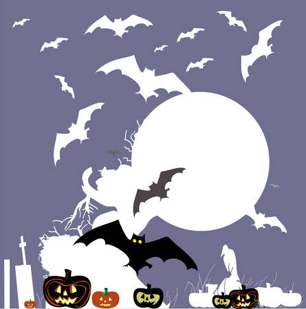 Halloween vector background. Vector