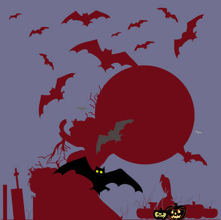 Halloween background Vector Illustration Vector
