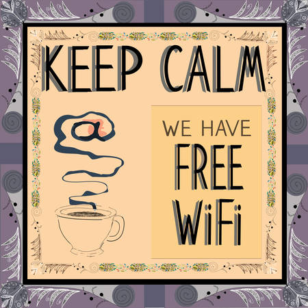 Poster: Keep calm we have Free illustration. Stock Vector - 25108234
