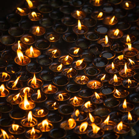 supplication: Church candles Stock Photo