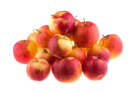 bushel: Apples isolated on white background. Stock Photo