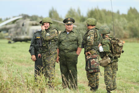 saboteur: BUDIHINO, RUSSIA - AUG 26, 2010: During Command post exercises with 98-th Guards Airborne Division in Kostroma region.