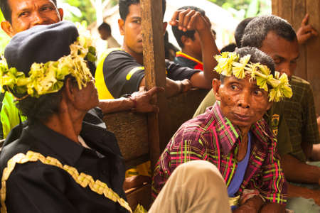 jah: BERDUT, MALAYSIA - APR 8: Unidentified people Orang Asli in his village on Apr 8, 2013 in Berdut, Malaysia. More than 76% of all Orang Asli live below the poverty line, life expectancy - 53 years old. Editorial