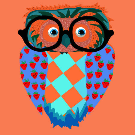illustration for children (a series of popular hipster-characters) Vector