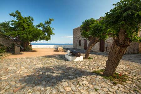 peloponnesus: Traditional medieval era fortified of Monemvasia, Greece.  Stock Photo