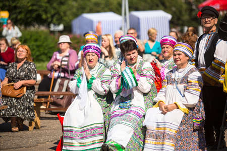 mentioned: TIKHVIN, RUSSIA - JULY 5, 2014: Unidentified participants the celebration of the day of the city of Tikhvin - first mentioned 1383, town status since 1773 year (200 kilometers east of St. Petersburg) Editorial