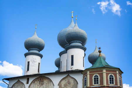 assumption: Tikhvin Assumption Monastery in Tikhvin, Russia. Stock Photo