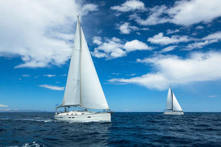 Sailing on the high seas. Luxury yachts. Stockfoto