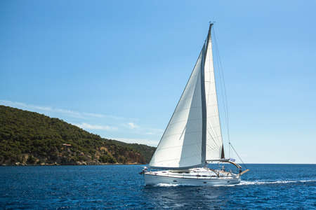 Sailing in the Aegean Sea. Luxury yachts. photo