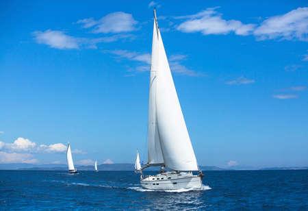 yachting: Sailing. Yachting. Luxury yachts. Stock Photo