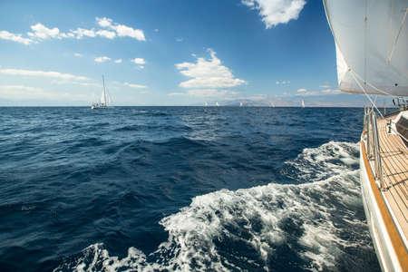 Sailing. Yachting. Tourism. Luxury Lifestyle. Stock Photo