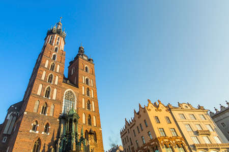 assumed: Church of Our Lady Assumed into Heaven also known as St. Marys Church (Kosciol Mariacki) in Krakow, Poland