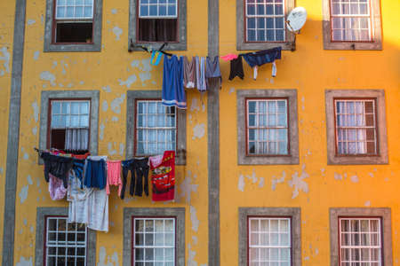 recognised: PORTO, PORTUGAL - CIRCA FEB, 2015: Traditional drying clothes in Old Town of Porto. In 1996, UNESCO recognised Old Town of Porto as a World Heritage Site.