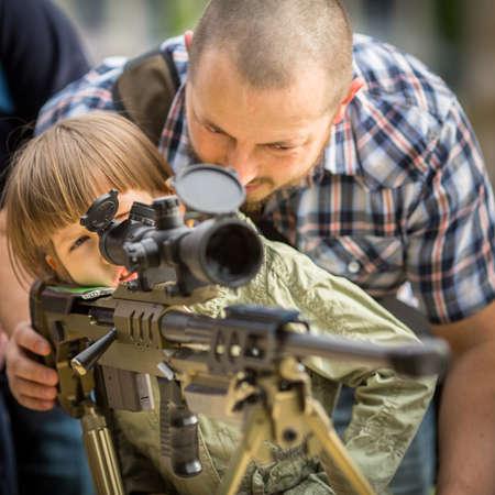 akm: KRAKOW, POLAND - MAY 3, 2015: Unidentified people during demonstration of the military and rescue equipment during annual Polish national and public holiday the Constitution Day May 3rd.