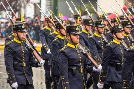 ATHENS, GREECE - MAR 25, 2015: Soldiers of Greek army during Independence Day of Greece is an annual national holiday, on this day, Greeks pay tribute to the heroes of the Revolution 1821-1829.