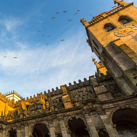 romanesque: The Porto Cathedral (Se do Porto). Romanesque and Gothic architecture.
