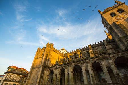 romanesque: Porto Cathedral or Se do Porto, Portugal. Romanesque architecture.