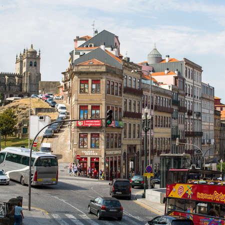 recognised: PORTO, PORTUGAL - JUNE 9, 2015: One of the streets in the Porto Old town. UNESCO recognised Old Town of Porto as a World Heritage Site in 1996.