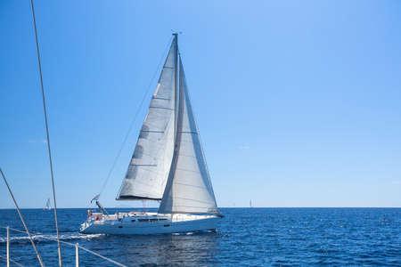 regatta: Boats in sailing regatta. Stock Photo