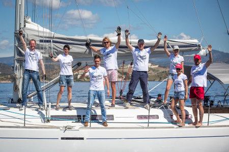 ellada: ERMIONI - LEONIDIO, GREECE - CIRCA MAY, 2014: Sailors participate in sailing regatta 11th Ellada Spring 2014 among Greek island group in the Aegean Sea, in Cyclades and Argo-Saronic Gulf. Editorial