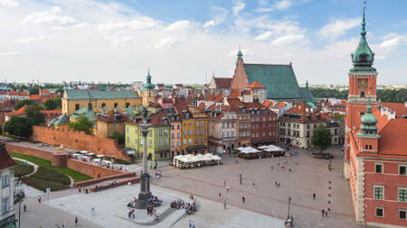 stare miasto: WARSAW, POLAND - JUN 2, 2015: One of the street Warsaw Old town (Stare Miasto) is the oldest historic district of Warsaw (13th century). Old town is one of most famous tourist attractions of Warsaw. Editorial