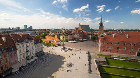 WARSAW, POLAND - JUN 2, 2015: One of the street Warsaw Old town (Stare Miasto) is the oldest historic district of Warsaw (13th century). Old town is one of most famous tourist attractions of Warsaw. Editorial