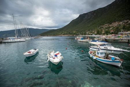 ellada: MONEMVASIA, GREECE - CIRCA MAY, 2014: Sailboat participate in sailing regatta 11th Ellada 2014 Spring among Greek island group in the Aegean Sea, in Cyclades and Argo-Saronic Gulf. Editorial