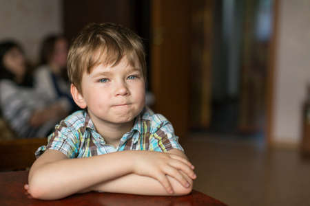 five year: Portrait of a five year old boy. Stock Photo