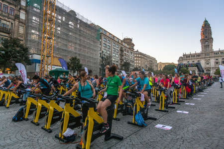 sports form: PORTO, PORTUGAL - JUL 9, 2016: Participants Porto Are In Good Form. This program takes sport to the street, providing sports animation. Participation is free of charge and does not imply enrollment. Editorial