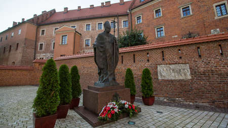 casimir: KRAKOW, POLAND - SEP 7, 2016: On-site Wawel Royal Castle, residency built at the behest of King Casimir III the Great, reigned 1333-1370. The most historically and culturally important site in Poland.
