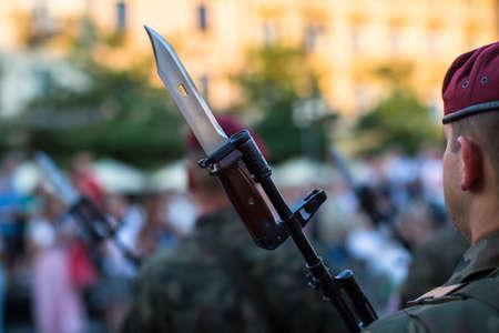polish: Polish soldiers. Stock Photo