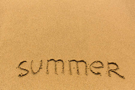 evoking: Summer - drawn on the sand of a sea beach.