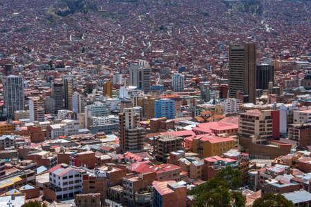 shanty: Top view of La Paz, Bolivia.