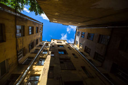 typical: Yards (courtyard) structure shapes in Saint Petersburg, Russia.