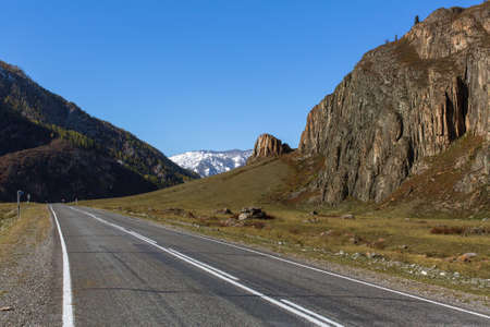 Chuya Highway in Altay Mountains, Russia.