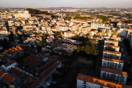 Aerial view of residential houses Porto city, Portugal. 免版税图像