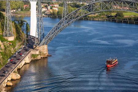 Top view of Douro river, Porto, Portugal. Standard-Bild