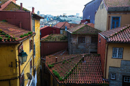 Houses in Old districts of Porto, Portugal. Zdjęcie Seryjne