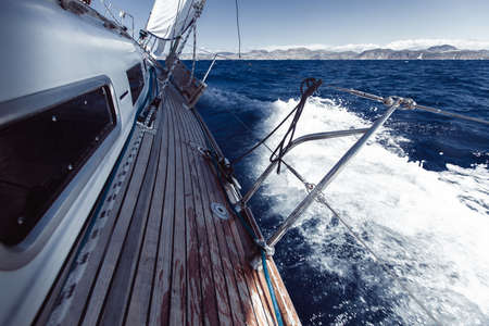 Cruise yachting. Ship luxury boats sailing yachts in the sea. Banco de Imagens