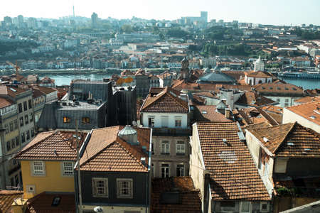View of the old town and Douro river, Porto, Portugal. Stockfoto