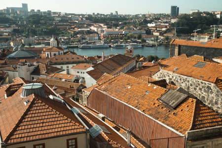 View of the old town and Douro river, in Porto, Portugal.