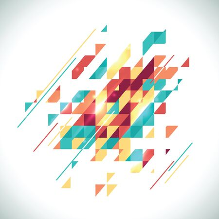 Abstract colored geometric theme. Flat modern mosaic. Busines theme for your presentation Çizim